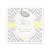 Sweet Peanut Elephant Baby Shower Napkin