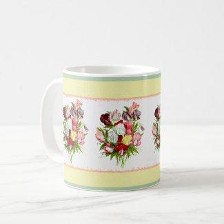 Sweet Peas Bouquet Coffee Mug