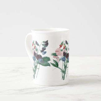 Sweet Peas by Redoute Botanical Bone China Mug