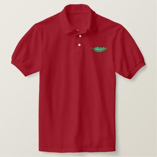 Sweet Peas Embroidered Polo Shirt