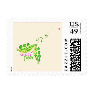 Sweet Peas in a Pod Postage Stamps