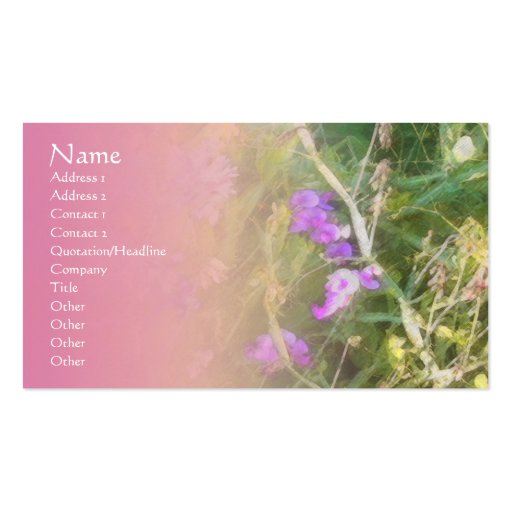 Sweet Peas Pink Blend Profile Card Business Card