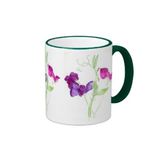 'Sweet Peas' Ringer Mug
