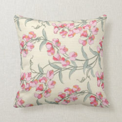 Sweet Peas Edwardian Pillow Throw