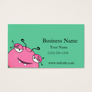Sweet Peeking Girly Monster Business Card