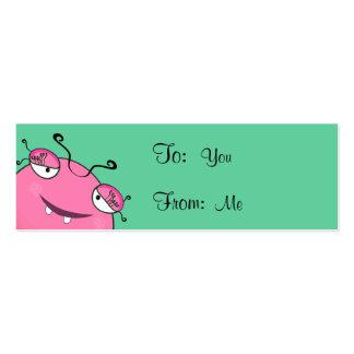 Sweet Peeking Girly Monster Business Card Template