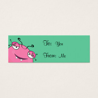 Sweet Peeking Girly Monster Mini Business Card