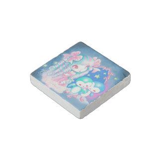Sweet Penguin Christmas Stone Magnet