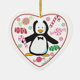 Sweet Penguin Heart Ornament