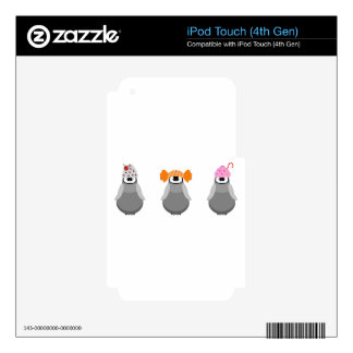 Sweet Penguins Skins For iPod Touch 4G