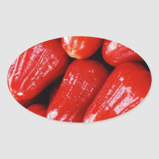 Sweet Peppers Oval Stickers