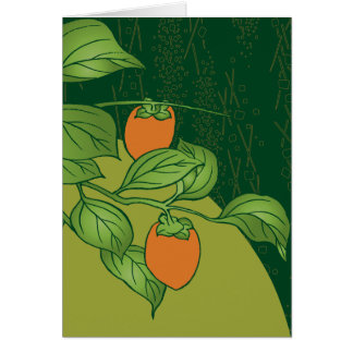 Sweet Persimmons Greeting Card