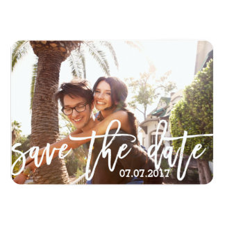 Sweet Personalized Photo Save the Date Card