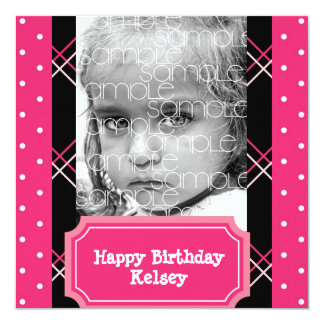 Sweet Photo Ticket Birthday Party Invitation