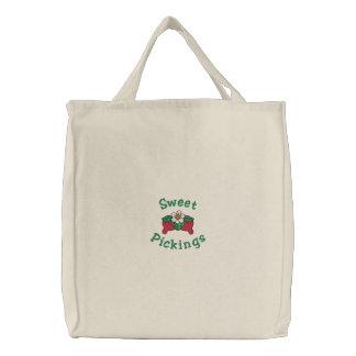 Sweet Pickings Red Strawberries Berry Grocery Bags