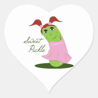 Sweet Pickle Heart Sticker