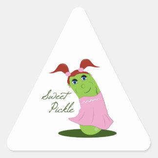 Sweet Pickle Triangle Sticker
