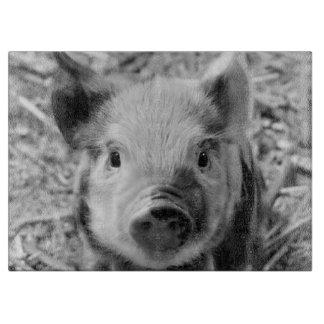 sweet piglet, black white cutting boards