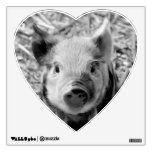 sweet piglet, black white wall decal