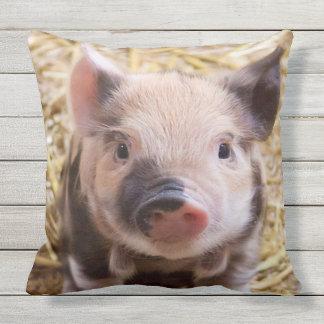 Sweet Piglet Outdoor Pillow