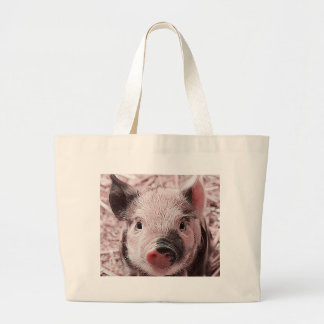 sweet piglet pink canvas bag