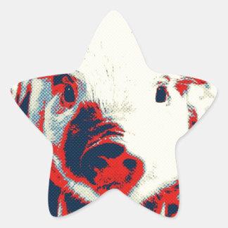 Sweet Piglet, toony red Star Sticker