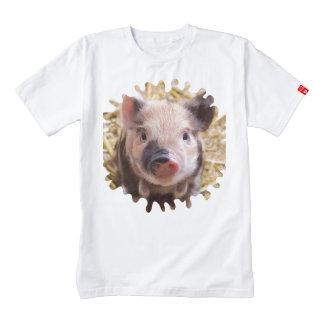 sweet piglet white mask zazzle HEART T-Shirt