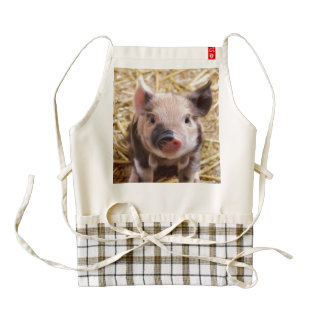 sweet piglet zazzle HEART apron