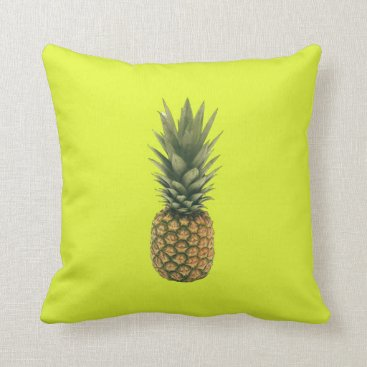 Beach Themed Sweet Pineapple Throw Pillow