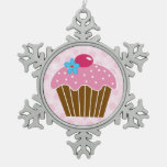 Sweet Pink and Chocolate Cupcake Ornaments
