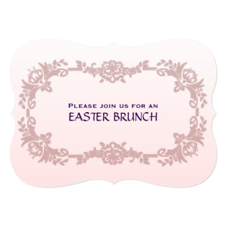 Sweet Pink and Lavender Easter Brunch 5x7 Paper Invitation Card