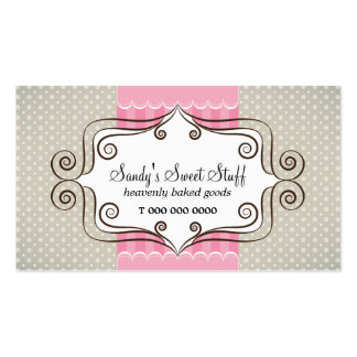 Sweet Pink and Polka Dots Business Card Template