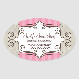 Sweet Pink and Polka Dots Stickers