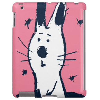 Sweet Pink and White Rabbit iPad Case