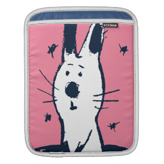 Sweet Pink and White Rabbit iPad Sleeve