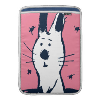 Sweet Pink and White Rabbit MacBook Air Sleeve