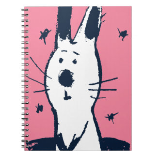 Sweet Pink and White Rabbit Notebook