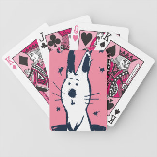 Sweet Pink and White Rabbit Playing Cards