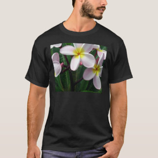 Sweet Pink and Yellow Plumeria Flowers T-Shirt
