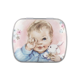 Sweet Pink Baby Girl Shower Candy Jelly Belly Tin