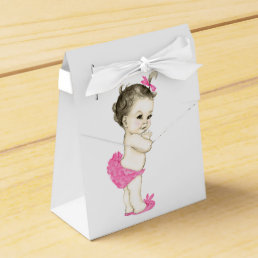 Sweet Pink Baby Girl Shower Favor Box