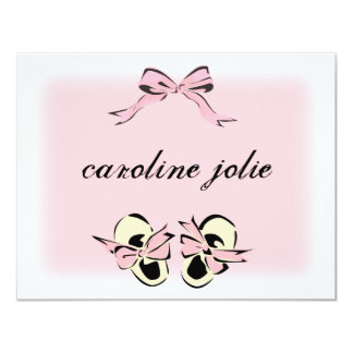 Sweet Pink Baby Shoes Note Card