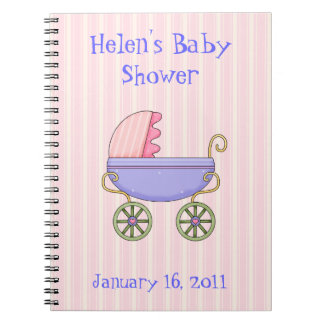 Sweet Pink Baby Shower Notebook