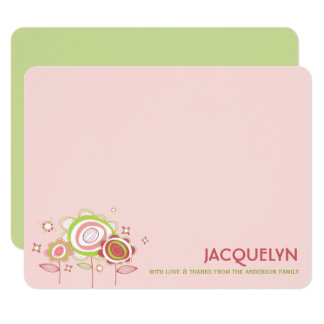 Sweet Pink Blossoms Baby Shower Thank You Card