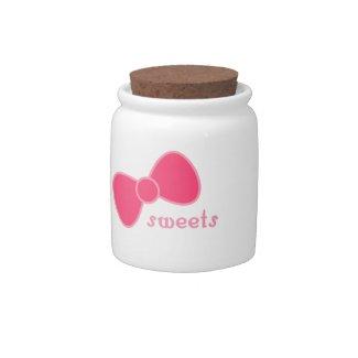 Sweet Pink Bow candyjar