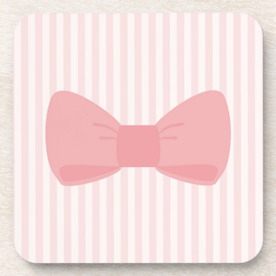 Sweet pink bow gift coaster