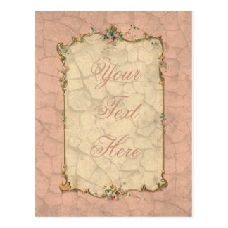 Sweet Pink Bridal Design Postcard