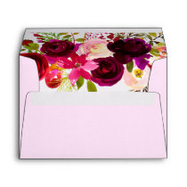 Sweet Pink Burgundy all occasions envelope