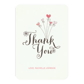 Sweet Pink Cake Baby Girl 1st Birthday Thank You Card