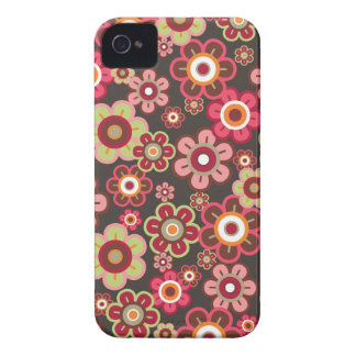 Sweet Pink Candy Daisies Flowers Girly Pattern Fun iPhone 4 Case-Mate Case